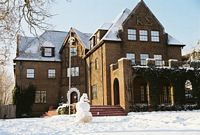 Kappa Sigma House in snow