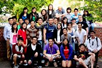 large group Asian Christian students