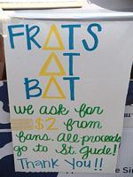 Frats at bats fundraiser for St. Jude