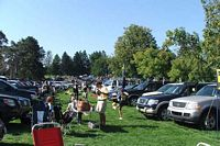 BC parking area on grass and tailgating