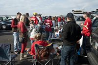 20 plus BC clothed tailgaters at one party in the lot