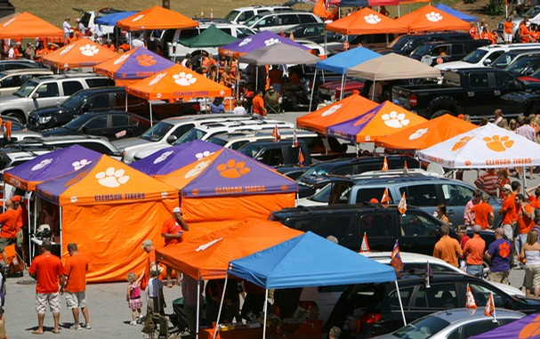 Tailgaters Everywhere With Orange Tents ... image number 1 of clemson tailgate ... & Clemson Tailgate Canopy u0026 Rawlings Clemson Tigers Large Tailgate Kit ...