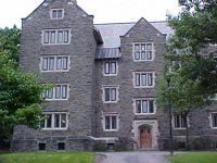 typical 4 story unattractive gothic stone dorm