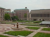 the huge central quad with its fountains etc.