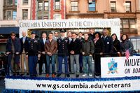 parade float for Columbia students honoring veterans