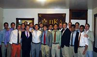 20 Pikes are looking pretty preppry with shirts and ties with their khakis.