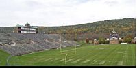 This photo shows the empty stadium on a week day to illustrate the beauty of fall in Pennsylvania.