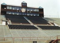 The stadium has club seats shown here.