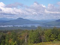 Here is a long view of the mountains and lakes surrounding U Maine.