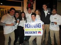 College Republicans rally for a regent candidate.
