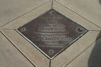 Here is a plaque set in the walkway explaining that people that use this walk should say hello to passer-bys.