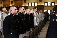 Here are new officers of all branches of service at their commissioning ceremony.
