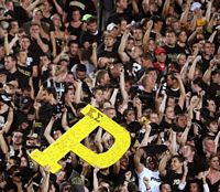 Every time a Purdue game is on TV a large Yellow P is displatyed from the student section.  On it are greek letters of Kappa Sigma.