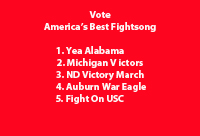 Vote for fight song